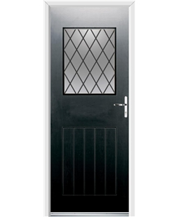 Ultimate Cottage View Rockdoor in Onyx Black with Diamond Lead