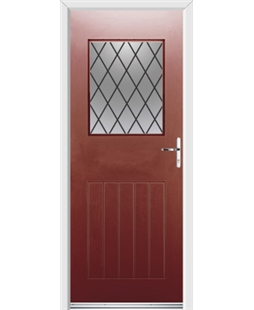 Ultimate Cottage View Rockdoor in Ruby Red with Diamond Lead