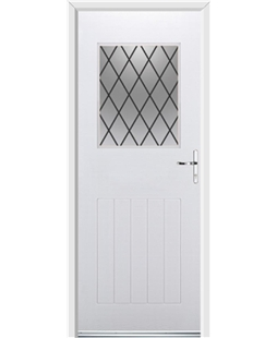 Ultimate Cottage View Rockdoor in White with Diamond Lead