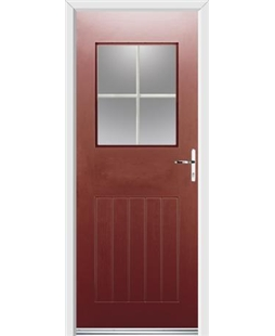 Ultimate Cottage View Rockdoor in Ruby Red with White Georgian Bar