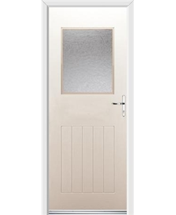Ultimate Cottage View Rockdoor in Cream with Gluechip Glazing