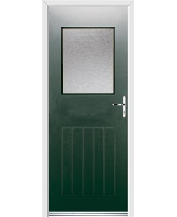 Ultimate Cottage View Rockdoor in Emerald Green with Gluechip Glazing