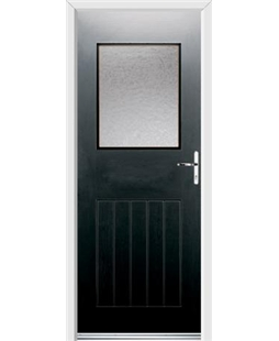 Ultimate Cottage View Rockdoor in Onyx Black with Gluechip Glazing