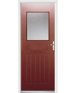 Ultimate Cottage View Rockdoor in Ruby Red with Gluechip Glazing
