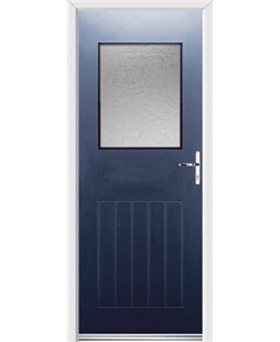 Ultimate Cottage View Rockdoor in Sapphire Blue with Gluechip Glazing
