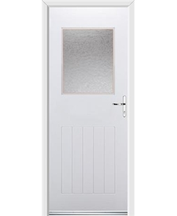 Ultimate Cottage View Rockdoor in White with Gluechip Glazing