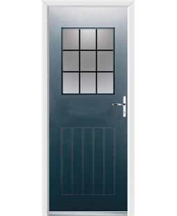 Ultimate Cottage View Rockdoor in Anthracite Grey with Square Lead