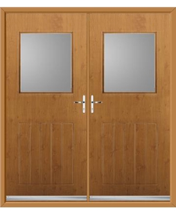 Cottage View Light French Rockdoor in Irish Oak with Glazing