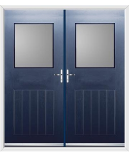 Cottage View Light French Rockdoor in Sapphire Blue with Glazing