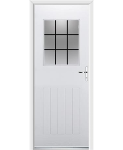 Ultimate Cottage View Rockdoor in Blue White with Square Lead