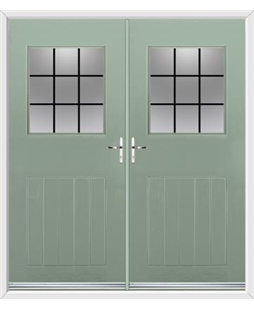 Cottage View Light French Rockdoor in Chartwell Green with Square Lead