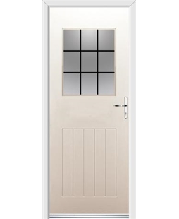 Ultimate Cottage View Rockdoor in Cream with Square Lead