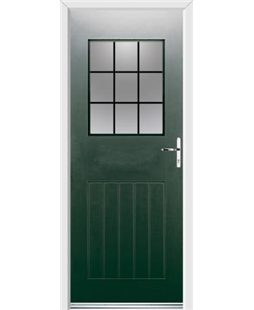 Ultimate Cottage View Rockdoor in Emerald Green with Square Lead