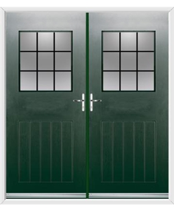 Cottage View Light French Rockdoor in Emerald Green with Square Lead