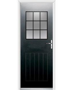 Ultimate Cottage View Rockdoor in Onyx Black with Square Lead