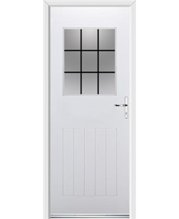 Ultimate Cottage View Rockdoor in White with Square Lead