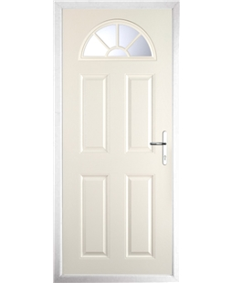 The Jamestown Composite Door in Cream with Clear Glazing