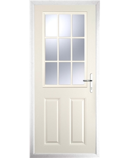 The Kettering Composite Door in Cream with Clear Glazing