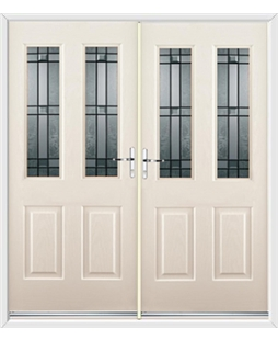 Jacobean French Rockdoor in Cream with Apollo