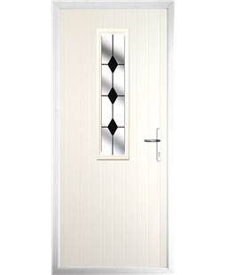 The Sheffield Composite Door in Cream with Black Diamonds