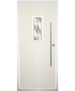 The Zetland Composite Door in Cream with Clarity Elegance