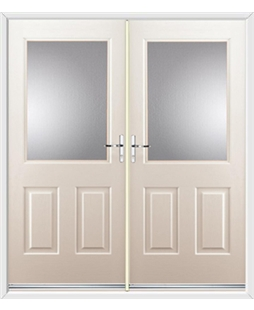 Windsor French Rockdoor in Cream with Glazing