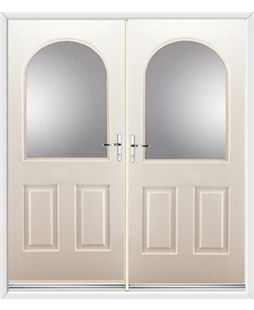 Kentucky French Rockdoor in Cream with Glazing