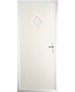 The Reading Composite Door in Cream with Clear Glazing