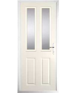 The Cardiff Composite Door in Cream with Clear Glazing