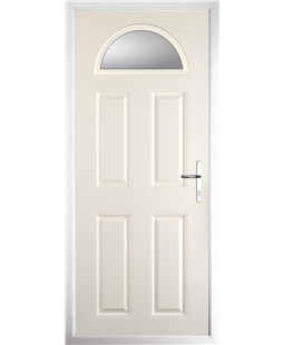 The Derby Composite Door in Cream with Clear Glazing