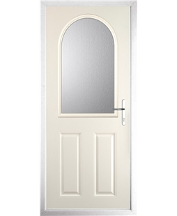 The Edinburgh Composite Door in Cream with Clear Glazing