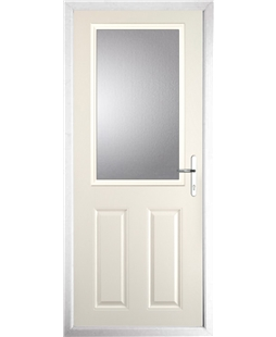 The Farnborough Composite Door in Cream with Clear Glazing