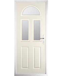 The Glasgow Composite Door in Cream with Clear Glazing