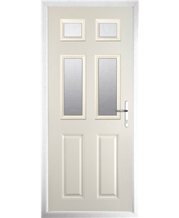The Oxford Composite Door in Cream with Clear Glazing