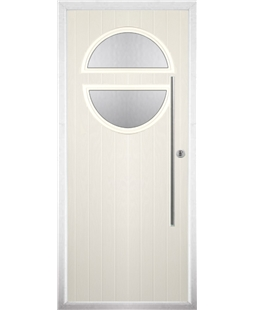 The Xenia Composite Door in Cream with Clear Glazing