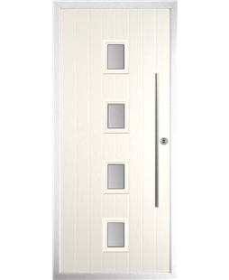 The Leicester Composite Door in Cream with Glazing