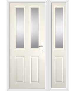 The Cardiff Composite Door in Cream with Glazing and matching Side Panel