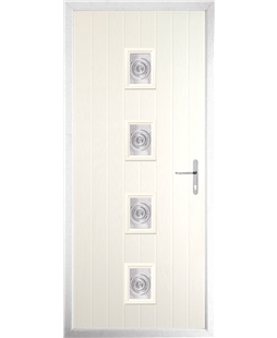 The Uttoxeter Composite Door in Cream with Bullion