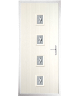 The Uttoxeter Composite Door in Cream with Luxury Crystal