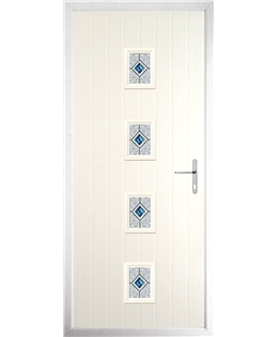 The Uttoxeter Composite Door in Cream with Daventry Blue