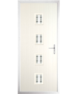 The Uttoxeter Composite Door in Cream with Tate