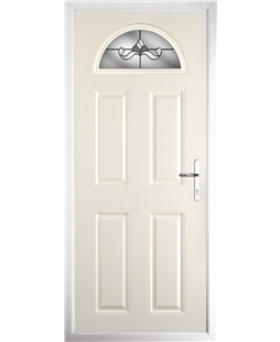 The Derby Composite Door in Cream with Crystal Bohemia Frost