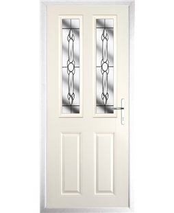 The Cardiff Composite Door in Cream with Crystal Bohemia