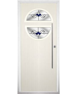 The Xenia Composite Door in Cream with Blue Crystal Bohemia