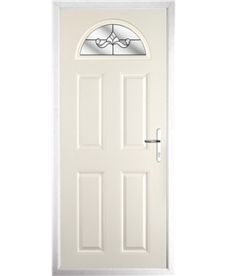 The Derby Composite Door in Cream with Clear Crystal Bohemia