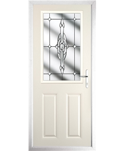 The Farnborough Composite Door in Cream with Clear Crystal Bohemia