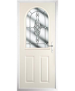 The Edinburgh Composite Door in Cream with Clear Crystal Bohemia