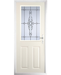 The Farnborough Composite Door in Cream with Crystal Bohemia Frost