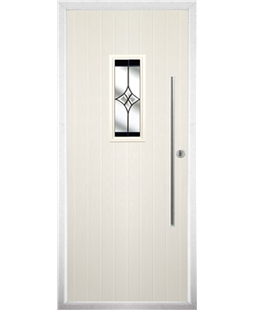 The Zetland Composite Door in Cream with Black Crystal Harmony