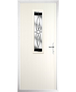 The Sheffield Composite Door in Cream with Black Crystal Harmony